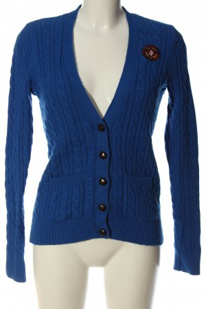Abercrombie & Fitch Cardigan blau Zopfmuster Casual-Look