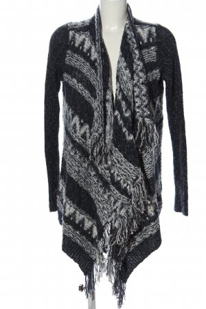 Abercrombie & Fitch Cardigan schwarz-weiß grafisches Muster Casual-Look