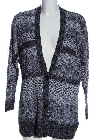 Abercrombie & Fitch Cardigan bianco-nero motivo astratto stile casual