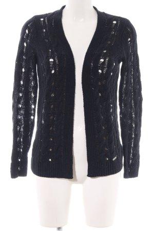 Abercrombie & Fitch Cardigan schwarz Zopfmuster Elegant