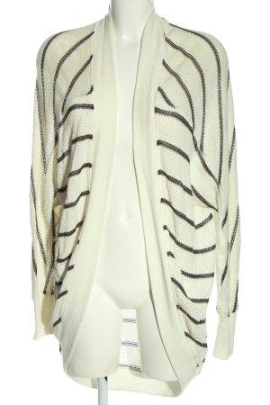 Abercrombie & Fitch Cardigan weiß-schwarz Allover-Druck Casual-Look