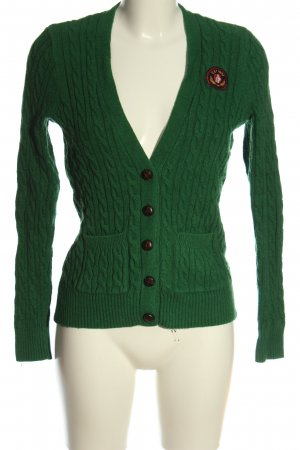Abercrombie & Fitch Cardigan grün Zopfmuster Casual-Look