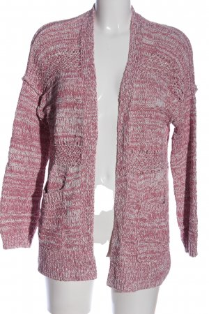 Abercrombie & Fitch Cardigan pink-weiß meliert Casual-Look
