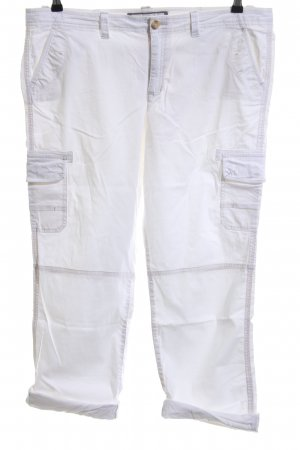 Abercrombie & Fitch Cargohose weiß Casual-Look