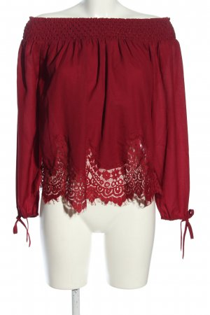 Abercrombie & Fitch Carmen-Bluse rot Casual-Look