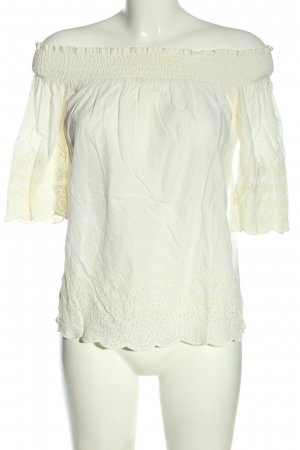 Abercrombie & Fitch Carmen-Bluse creme Casual-Look