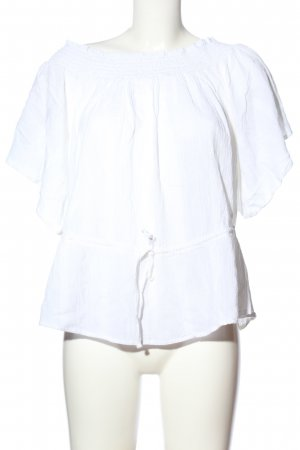 Abercrombie & Fitch Carmen-Bluse weiß Casual-Look