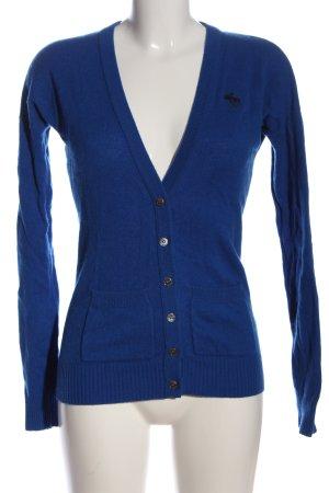 Abercrombie & Fitch Sudadera de cachemir azul look casual