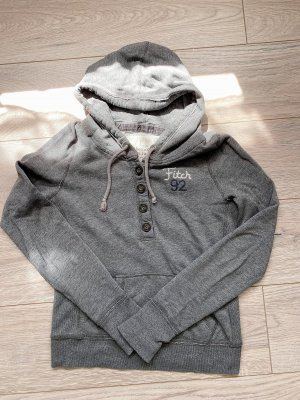 Abercrombie & Fitch Hooded Sweater grey-silver-colored