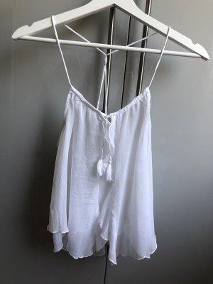 Abercrombie & Fitch Débardeur à bretelles blanc polyester