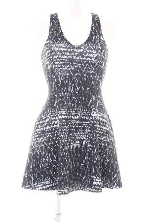 Abercrombie & Fitch Cocktailkleid schwarz-weiß abstraktes Muster Casual-Look