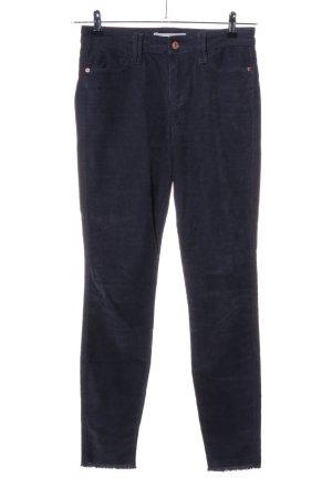 Abercrombie & Fitch Pantalon en velours côtelé bleu style décontracté