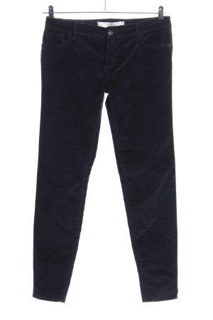 Abercrombie & Fitch Pantalon en velours côtelé noir style décontracté