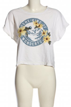 Abercrombie & Fitch Cropped Shirt Motivdruck Casual-Look