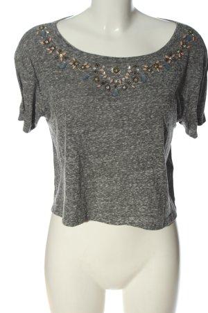 Abercrombie & Fitch T-shirt court gris clair moucheté style décontracté