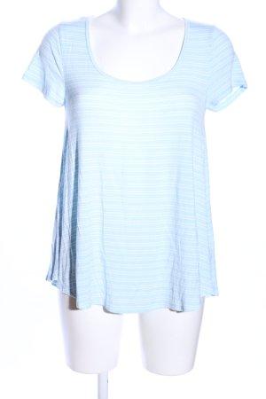 Abercrombie & Fitch Top cut-out blu-bianco motivo a righe stile casual