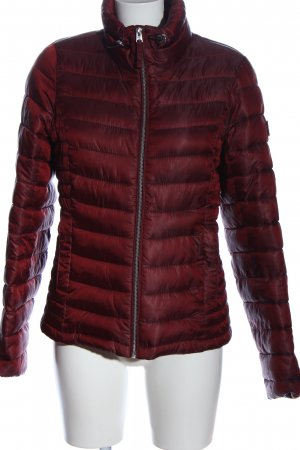 Abercrombie & Fitch Daunenjacke rot Steppmuster Casual-Look
