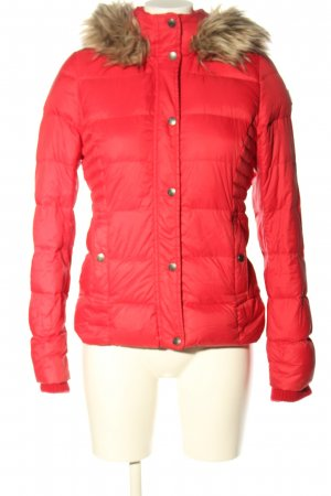 Abercrombie & Fitch Daunenjacke rot-pink Steppmuster Casual-Look