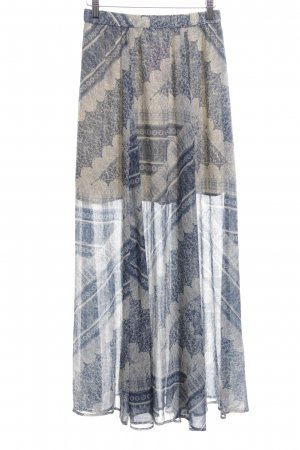 Abercrombie & Fitch Plaid Skirt cream-blue abstract pattern casual look