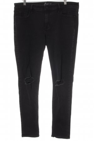 Abercrombie & Fitch Five-Pocket-Hose schwarz Biker-Look