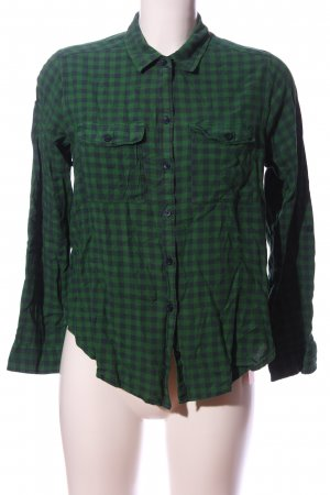Abercrombie & Fitch Flannel Shirt green-blue allover print casual look