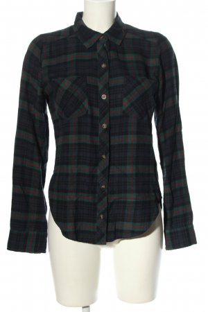 Abercrombie & Fitch Flannel Shirt blue-green allover print casual look
