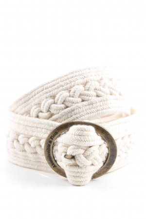 Abercrombie & Fitch Braided Belt pink casual look