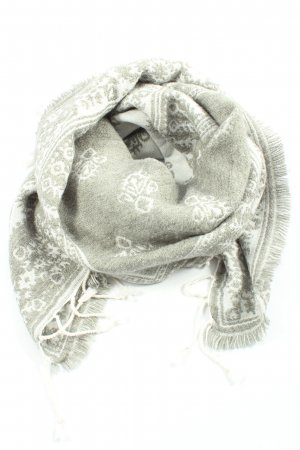 Abercrombie & Fitch Sciarpa con frange grigio chiaro-bianco sporco stile casual