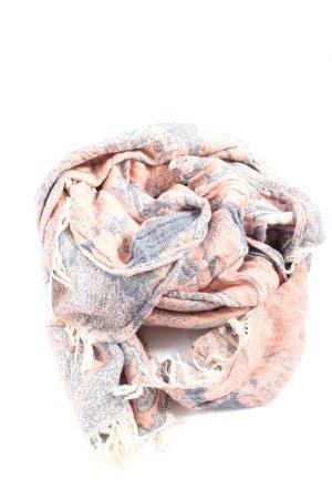 Abercrombie & Fitch Szalik z frędzlami Abstrakcyjny wzór W stylu casual