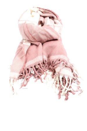 Abercrombie & Fitch Écharpe à franges blanc-rose motif rayé