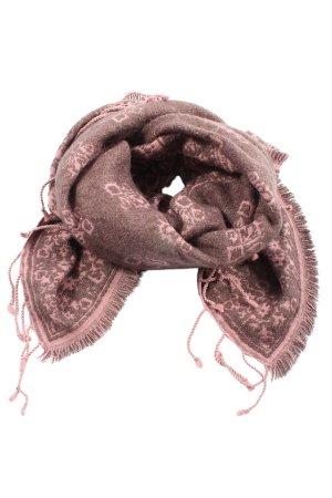 Abercrombie & Fitch Sciarpa con frange marrone-rosa stampa integrale