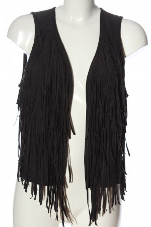 Abercrombie & Fitch Fringed Vest black casual look