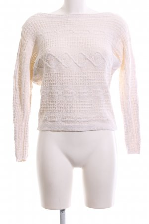 Abercrombie & Fitch Grobstrickpullover wollweiß Business-Look