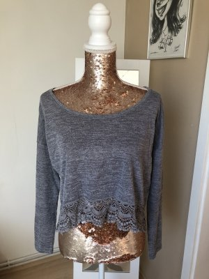 Abercrombie & Fitch Crochet Shirt grey