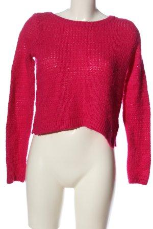 Abercrombie & Fitch Pull en crochet rose style décontracté