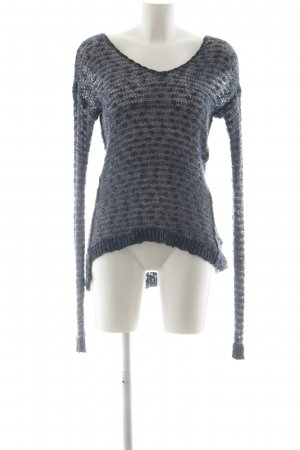 Abercrombie & Fitch Häkelpullover graublau-dunkelblau Casual-Look