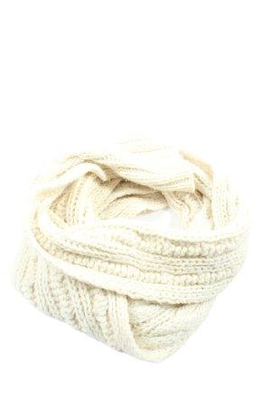 Abercrombie & Fitch Bufanda de ganchillo crema look casual