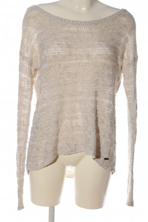 Abercrombie & Fitch Crochet Shirt natural white striped pattern casual look