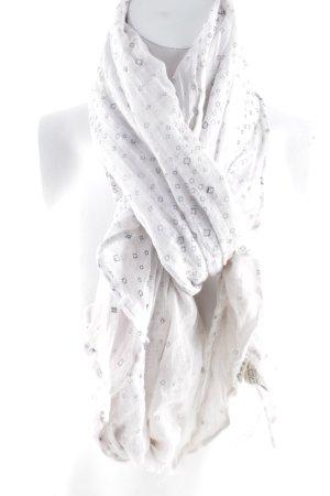 Abercrombie & Fitch Foulard blanc-gris clair style décontracté