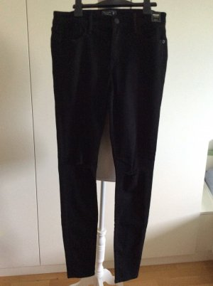 Abercrombie & Fitch Jeans a sigaretta nero