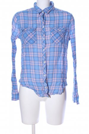 Abercrombie & Fitch Hemd-Bluse blau-pink Karomuster Business-Look