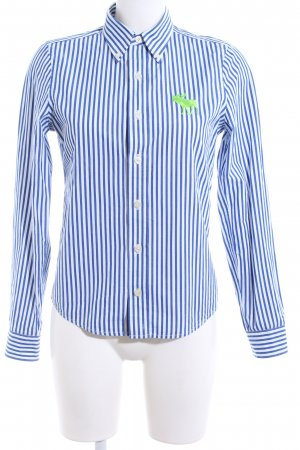 Abercrombie & Fitch Hemd-Bluse blau-weiß Streifenmuster Casual-Look