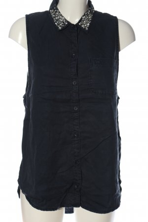 Abercrombie & Fitch Hemd-Bluse blau Casual-Look