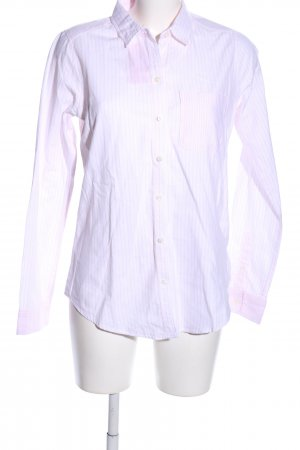 Abercrombie & Fitch Hemd-Bluse weiß-pink Allover-Druck Business-Look