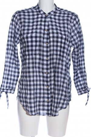 Abercrombie & Fitch Hemd-Bluse blau-weiß Karomuster Business-Look