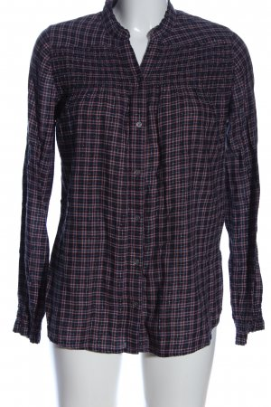 Abercrombie & Fitch Hemd-Bluse blau-pink Allover-Druck Casual-Look