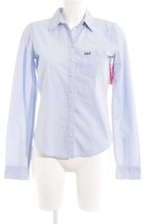 Abercrombie & Fitch Hemd-Bluse babyblau Casual-Look