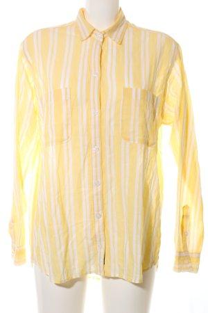 Abercrombie & Fitch Hemd-Bluse blassgelb-wollweiß Streifenmuster Business-Look