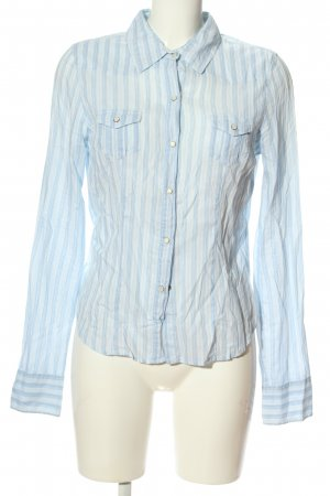Abercrombie & Fitch Hemd-Bluse blau Streifenmuster Business-Look