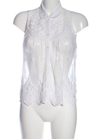 Abercrombie & Fitch Hemd-Bluse weiß Elegant